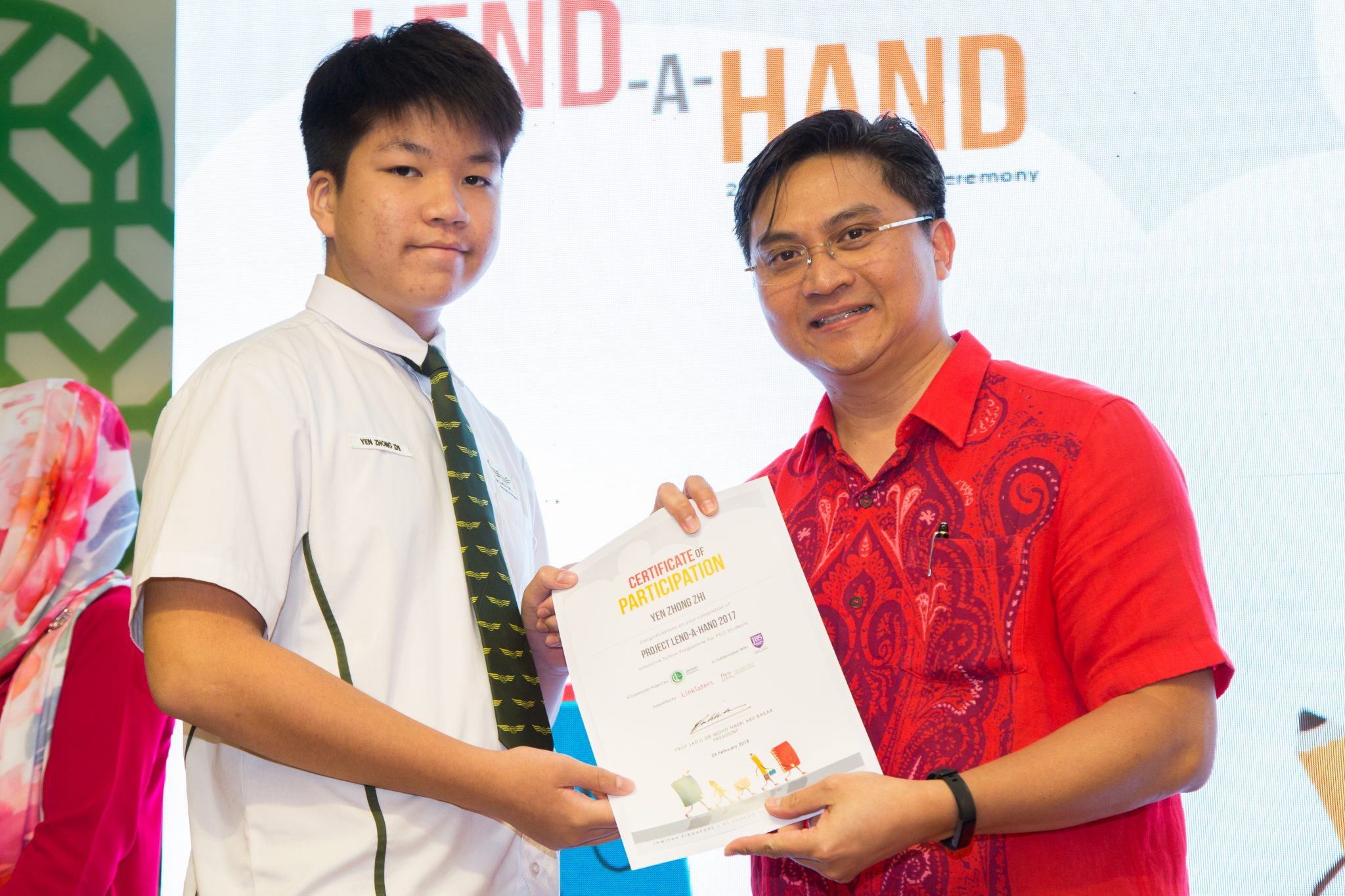 Project Lend-A-Hand (PLAH) completion ceremony