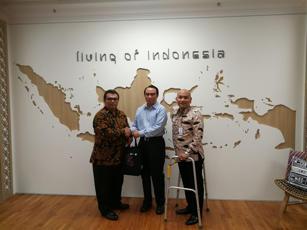 President of Jamiyah Singapore on a courtesy visit to the Embassy of the Republic of Indonesia in Singapore