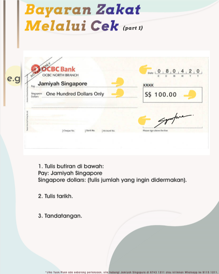 Zakat by Cheque